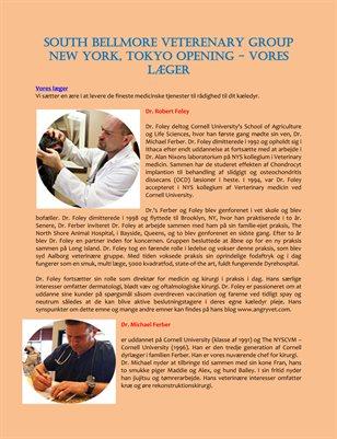 South Bellmore Veterenary Group New York, Tokyo Opening - Vores læger