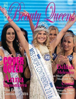 World Class Beauty Queens Magazine with Anna Semenkova