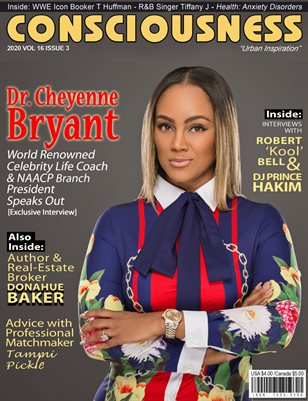 Dr. Cheyenne Bryant Featured on Cover of Consciousness Magazine