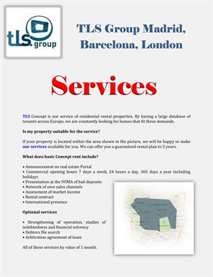 TLS Group Madrid, Barcelona, London: Services