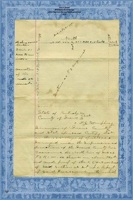 1894 , T.J. Murphy to Plat Jordan Hackney, Graves County, Kentucky