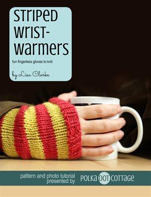 Striped Wristwarmers Knitting Pattern and Tutorial