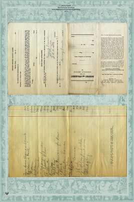 1929 Inventory & Appraisement of S.R. France, Graves County, Kentucky