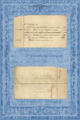 1870 H.F. WEST to J.L WINGO, Graves County, Kentucky