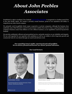About John Peebles Associates