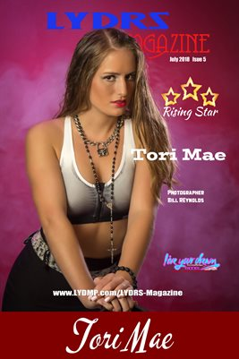 LYDRS MAGAZINE COVER POSTER - Rising Star Tori May - July 2018