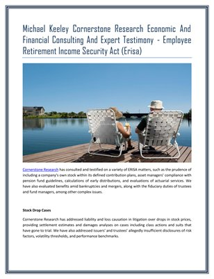 Employee Retirement Income Security Act (Erisa)