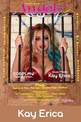 ENCHANTED ANGELZ MAGAZINE COVER POSTER - COSPLAY Special Edition - Cover Model Kay Erica - July 2020
