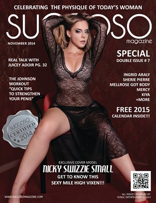 Succoso Magazine Double Issue #7 featuring Cover Model Nicky Swizzie Small