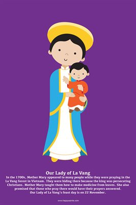 Happy Saints Our Lady of La Vang Poster
