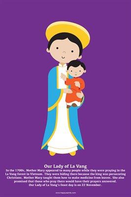 Happy Saints Our Lady of La Vang Poster
