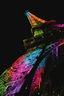 Iridescent Eiffel Tower Poster