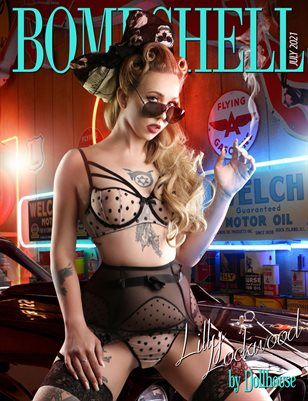 BOMBSHELL Magazine July 2021 - Lilly Lockwood Cover