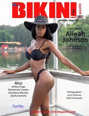 BIKINI INC USA MAGAZINE - Cover Model Alleah Johnsons - July 2021