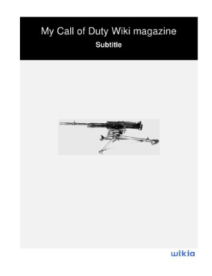 My Call of Duty Wiki magazine