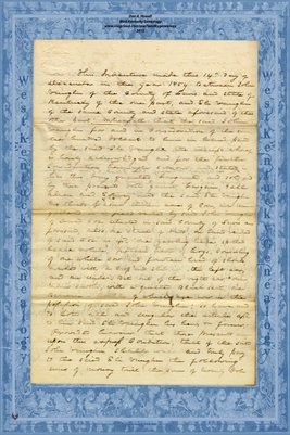 1854 Deed to Mortgage John Vaughn to Eli Vaughn, Lewis County, Kentucky