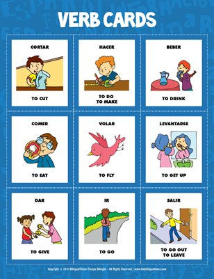 Flash Cards - Spanish verbs (#1.2)