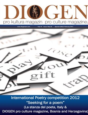"DIOGEN pro art magazine special February 2013 ""SEEKING FOR A POEM"" 2012"