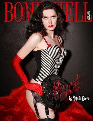 BOMBSHELL Magazine February 2021 - BOOK 2 - Margret Coquette Cover