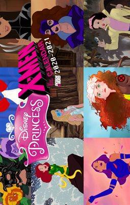 Disney Princess X-Men Calendar 2020-2021