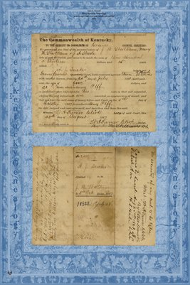 1867 no. 2488, A.J. Tucker Vs. J.B. Wortham, Graves County, Kentucky