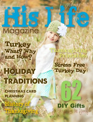 His Life Magazine November 2012 Issue
