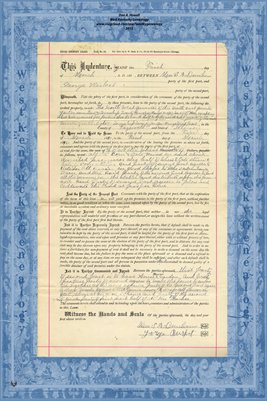 1891, Short Country Lease, Mrs. S.A. Dunham & George Birket, Tazewell County, Illinois