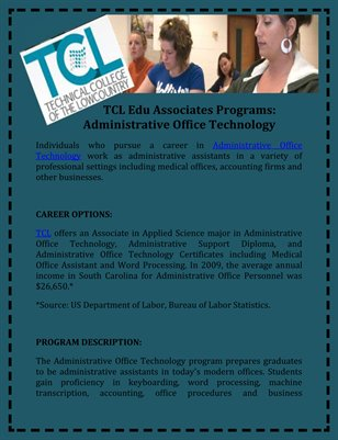 TCL Edu Associates Programs: Administrative Office Technology