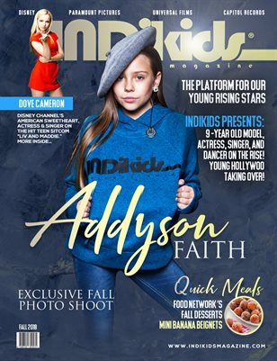 INDIKIDS FALL 2018 ISSUE ADDYSON COVER