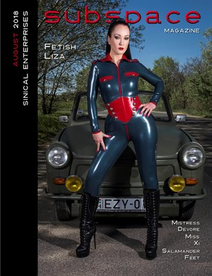 subspace Magazine August 2018 issue - Fetish Liza cover edition