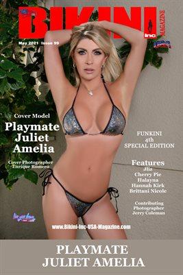 BIKINI INC USA MAGAZINE COVER POSTER - FUNKINI 4th Special Edition - Cover Model Juliet Amelia - March 2021