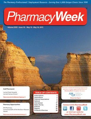 Pharmacy Week, Volume XXIV - Issue 18 - May 10 - May 16, 2015