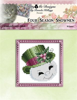 Four Season Snowmen Winter Cross Stitch Pattern