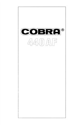 Cobra 440AF Bounce Zoom Dedicated Auto Flash Unit (for Canon EOS, Minolta Dynax, Nikon or Pentax SF) Instruction Manual