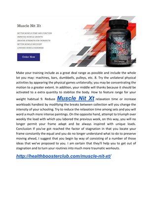 Muscle Nit Xt