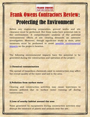 Frank Owens Contractors Review: Protecting the Environment