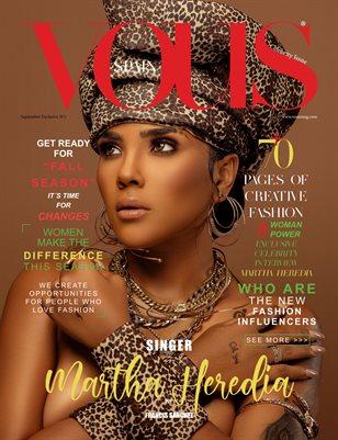 VOUS Magazine | The Fashion & Beauty Celebrity Edition | MARTHA HEREDIA | Vol.1 | September 2021