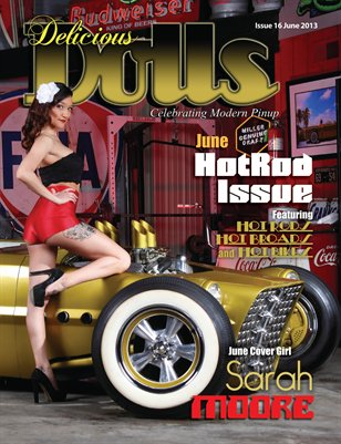 Delicious Dolls June2013 HotRod Issue - Sarah Moore cover