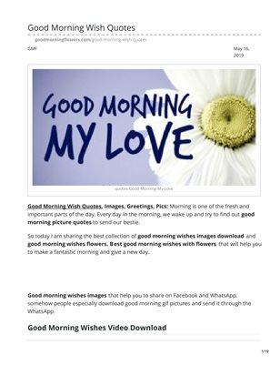 Good Morning Wish Quotes