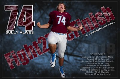 Sully Alwes Football Schedule Poster