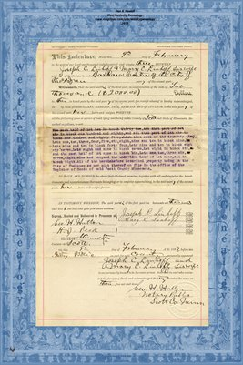 No. 6227 1893 Quit-Claim Deed Joseph C. Linhoff and wife to Barbara Conter, Scott County, Minnesota