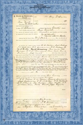 1898 State of Kentucky vs.Bas Enoch, Graves County, Kentucky