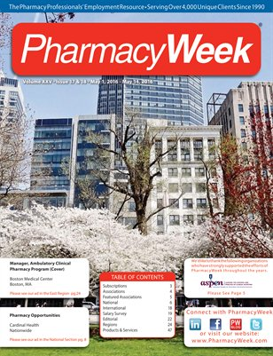 Pharmacy Week, Volume XXV - Issue 17 & 18 - May 1, 2016 - May 14, 2016