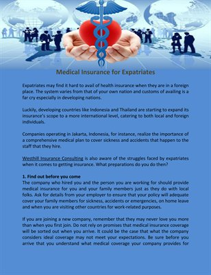Medical Insurance for Expatriates