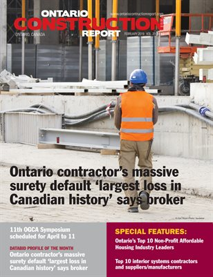 Ontario Construction Report (February 2019)