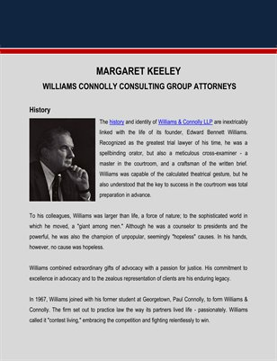 History of Williams Connolly Consulting Group Attorneys