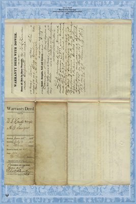 1878 Deed, Laudes to Sawyer, Miami County, Ohio