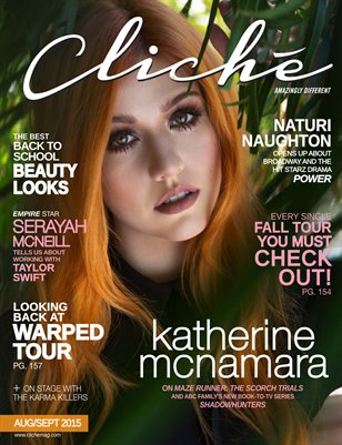 Cliché Magazine - Aug/Sept 2015 (Katherine McNamara Cover)