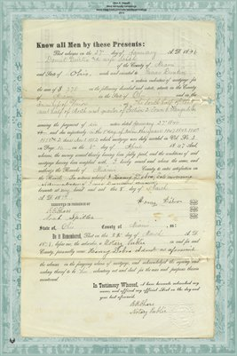 1879 Release of Mortgage, Isaac Dunkin Admin. to Daniel Curtis, Miami County, Ohio