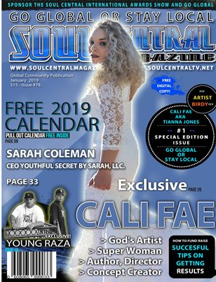 Soul Central Magazine Edition 78 Cali Fae